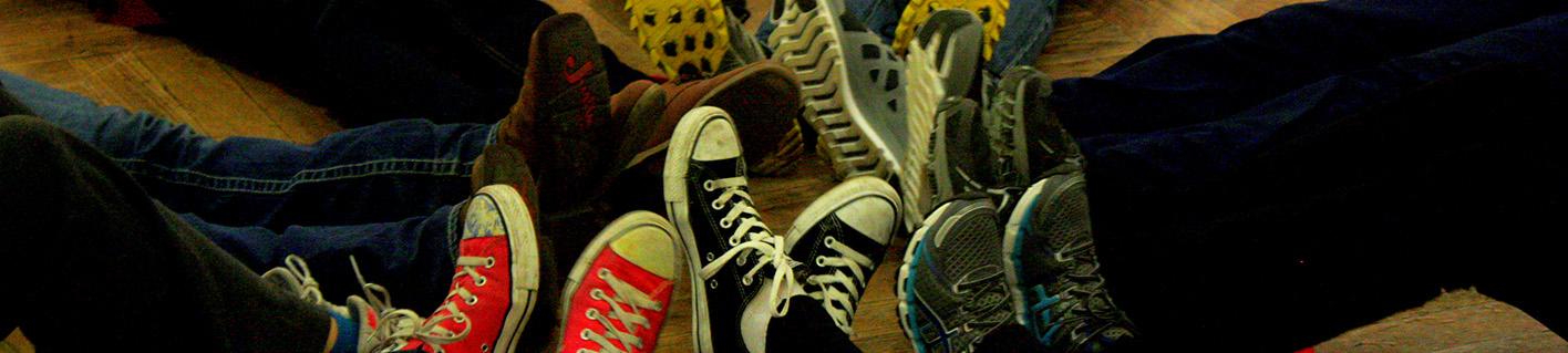 feet together