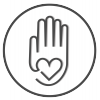 hand with a heart in the middle