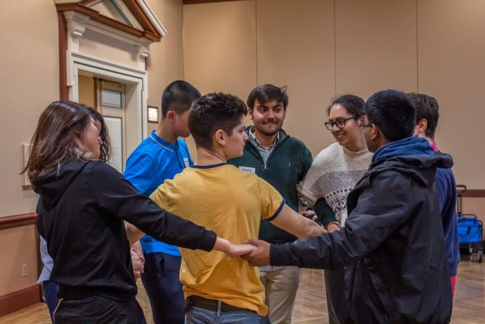 certificate students participating in a group activity during a cohort session